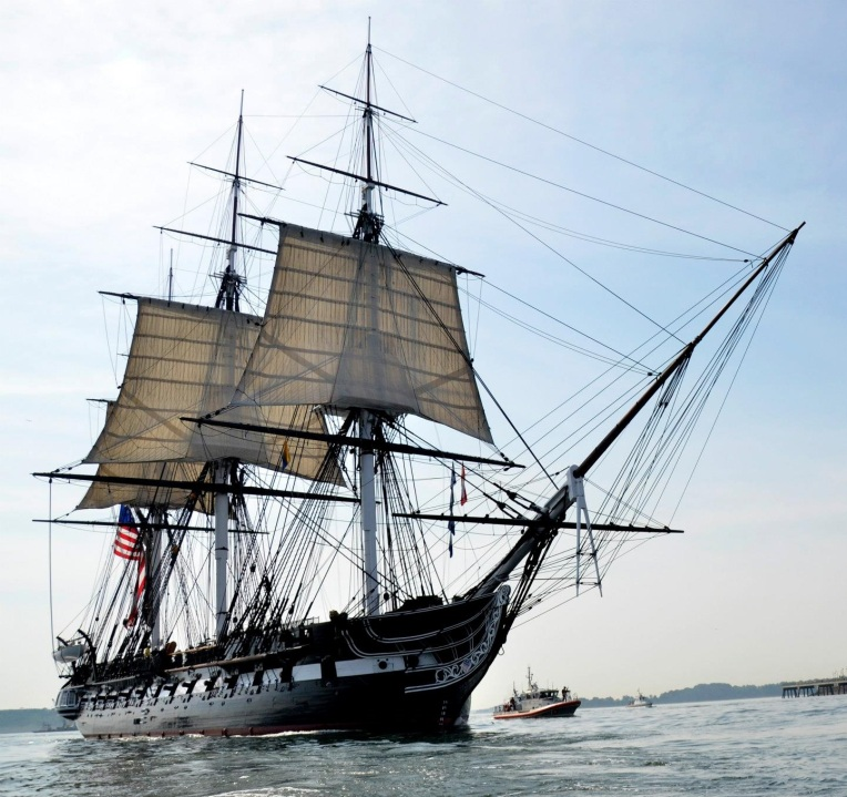 Photo of historic sailing ship USS Constitution