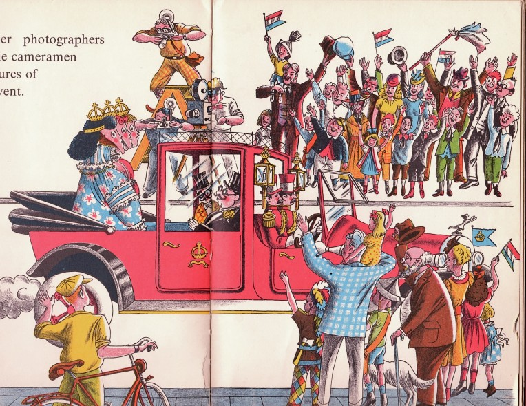 Page from Piet Worm's children's book Three Little Horses
