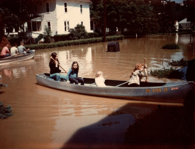 Shannon Ave 1968 Athens Oh flood