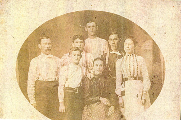 Photo of family posed