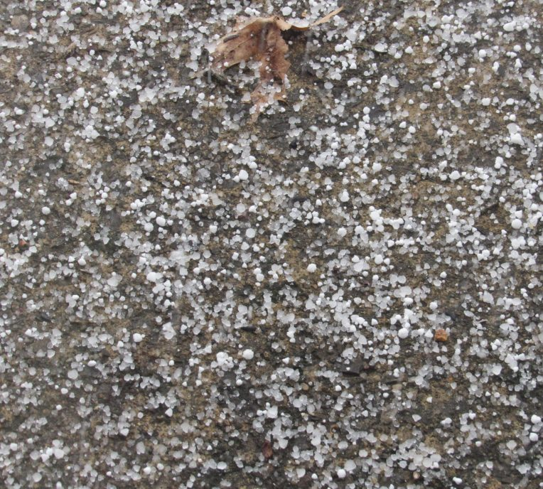 Photo of unusual large sleet
